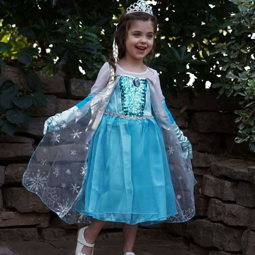child dressed in a princess dress