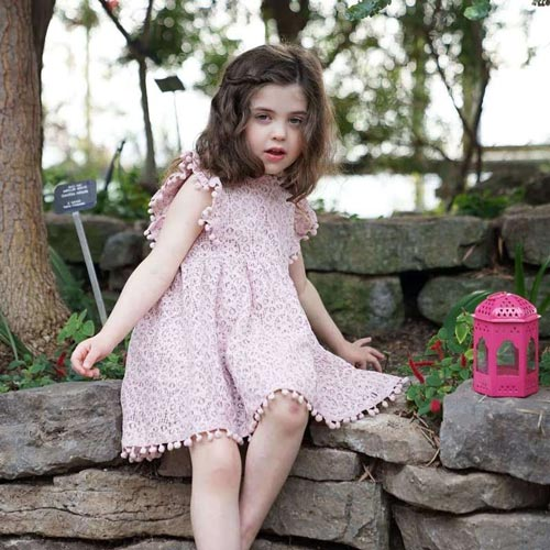 a short pink dress for little girls